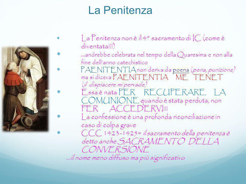 La Penitenza La Penitenza non è il 4° sacramento di IC (come è diventata!!!)