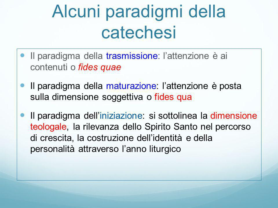 Alcuni paradigmi della catechesi