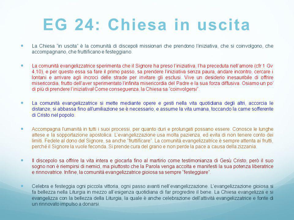 EG 24: Chiesa in uscita
