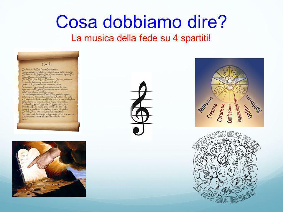 Cosa dobbiamo dire La musica della fede su 4 spartiti!