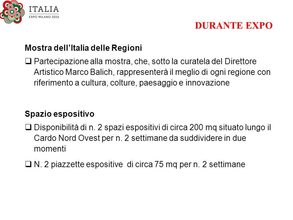 DURANTE EXPO Mostra dell'Italia delle Regioni