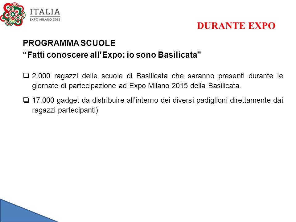 DURANTE EXPO PROGRAMMA SCUOLE