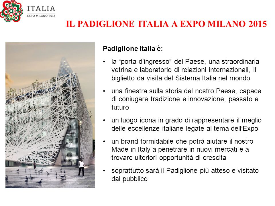 IL PADIGLIONE ITALIA A EXPO MILANO 2015