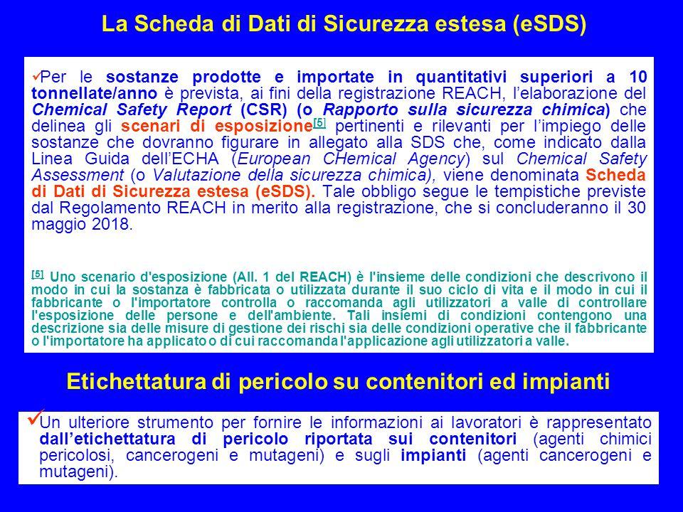 La Scheda di Dati di Sicurezza estesa (eSDS)