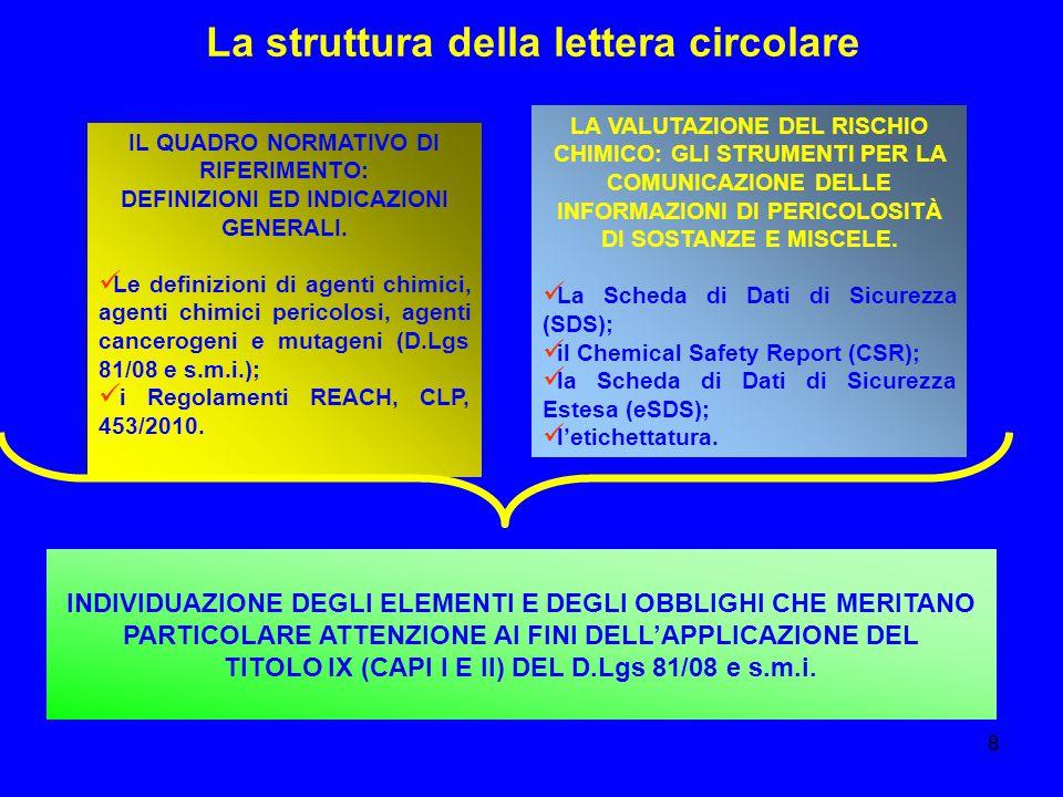 La struttura della lettera circolare