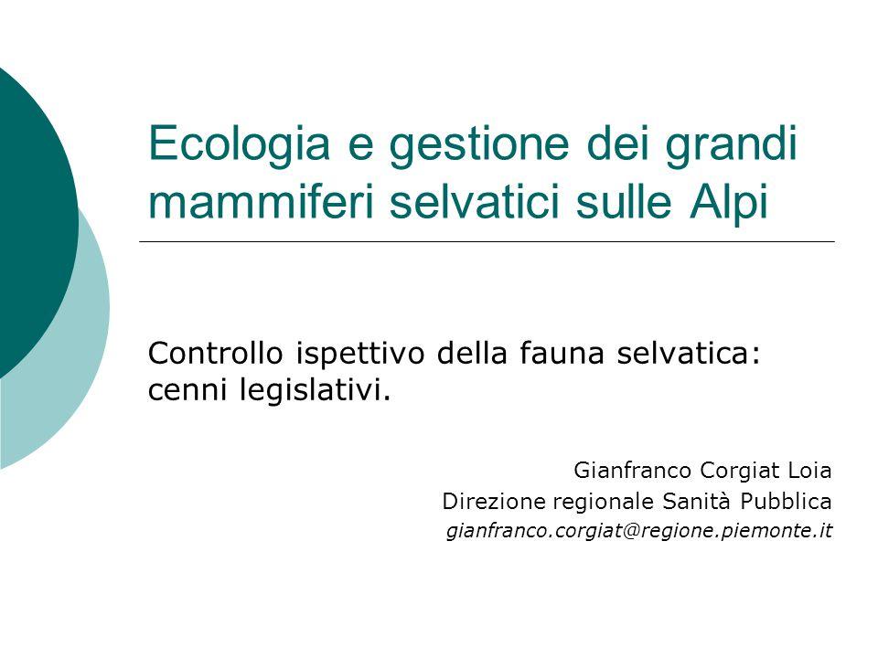 Ecologia e gestione dei grandi mammiferi selvatici sulle Alpi