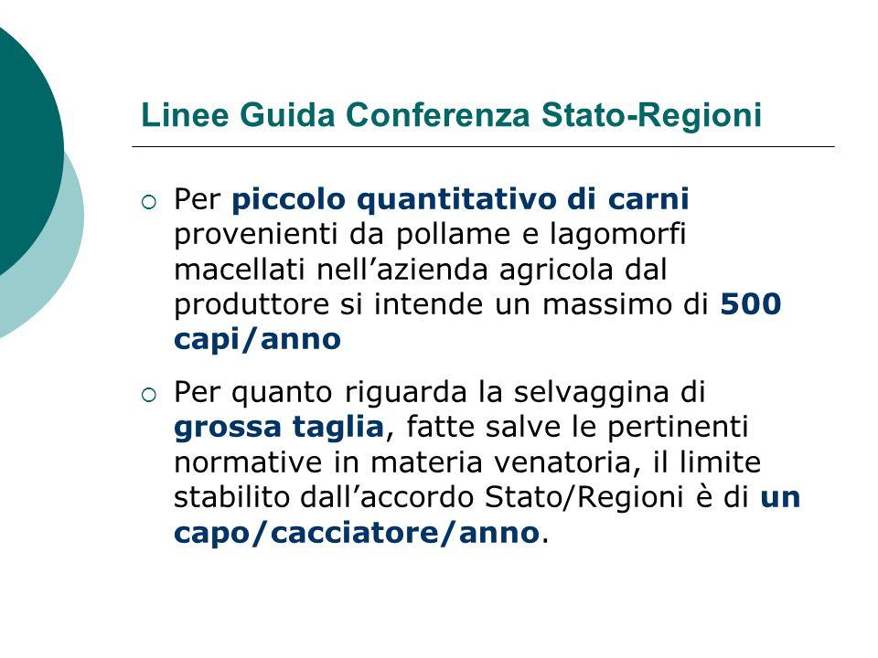 Linee Guida Conferenza Stato-Regioni