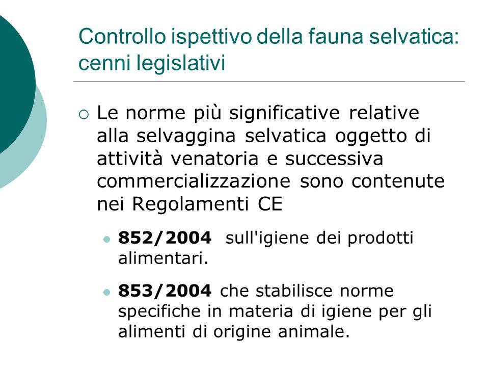 Controllo ispettivo della fauna selvatica: cenni legislativi