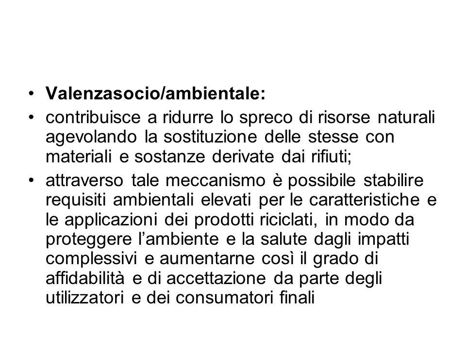 Valenzasocio/ambientale: