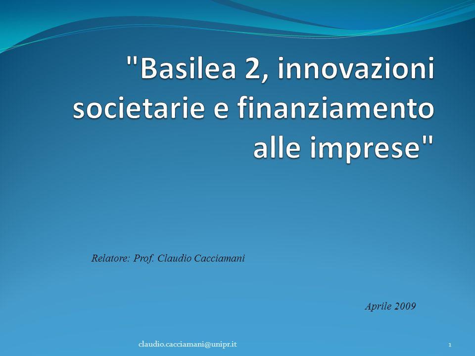 Basilea 2, innovazioni societarie e finanziamento alle imprese