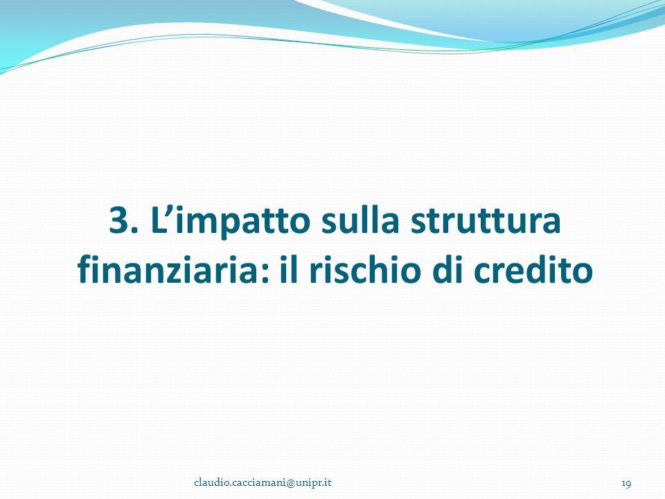 3. L'impatto sulla struttura finanziaria: il rischio di credito