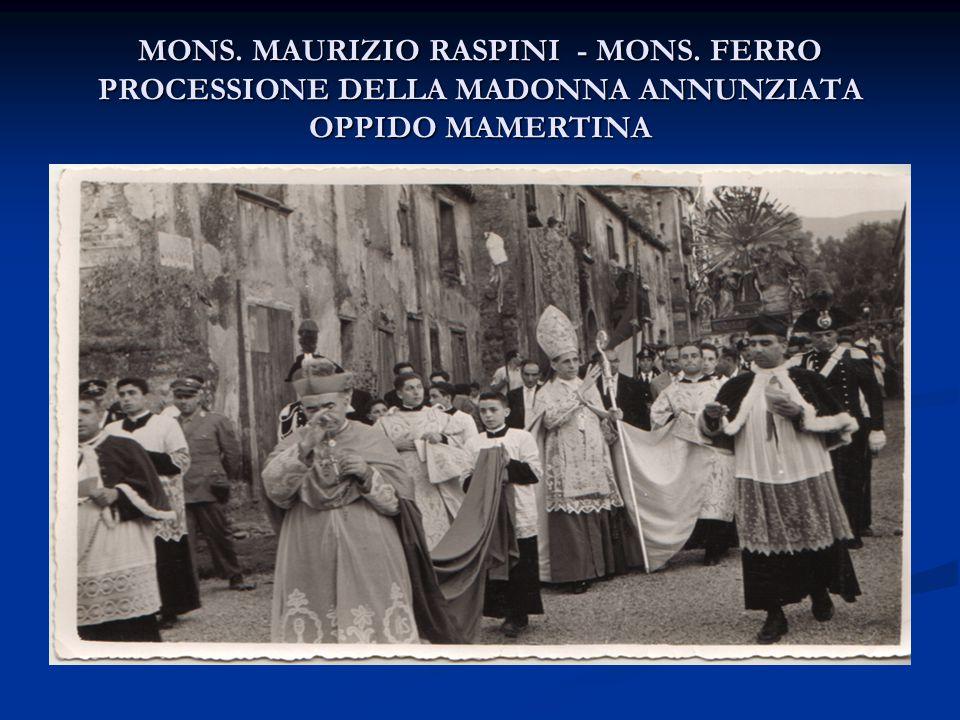 MONS. MAURIZIO RASPINI - MONS