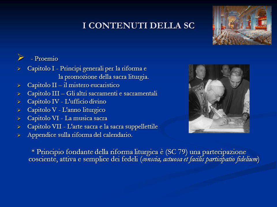 - Proemio I CONTENUTI DELLA SC