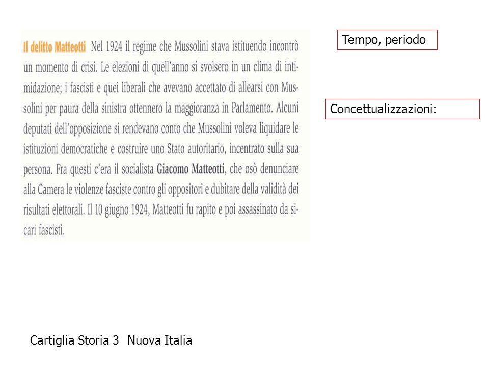 Tempo, periodo Concettualizzazioni: Cartiglia Storia 3 Nuova Italia