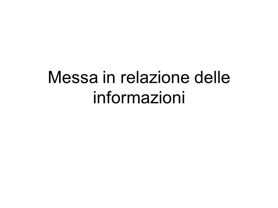 Messa in relazione delle informazioni