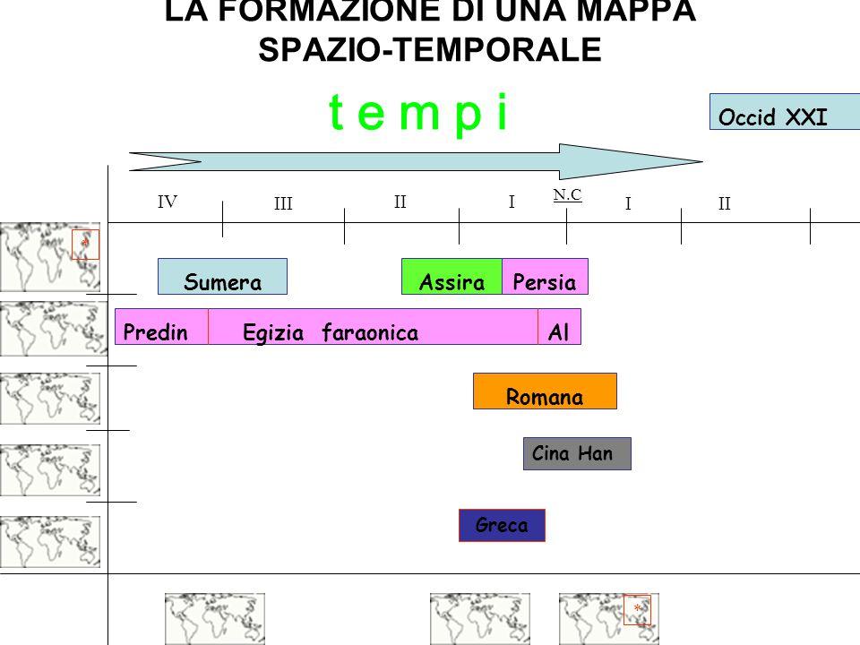 LA FORMAZIONE DI UNA MAPPA SPAZIO-TEMPORALE