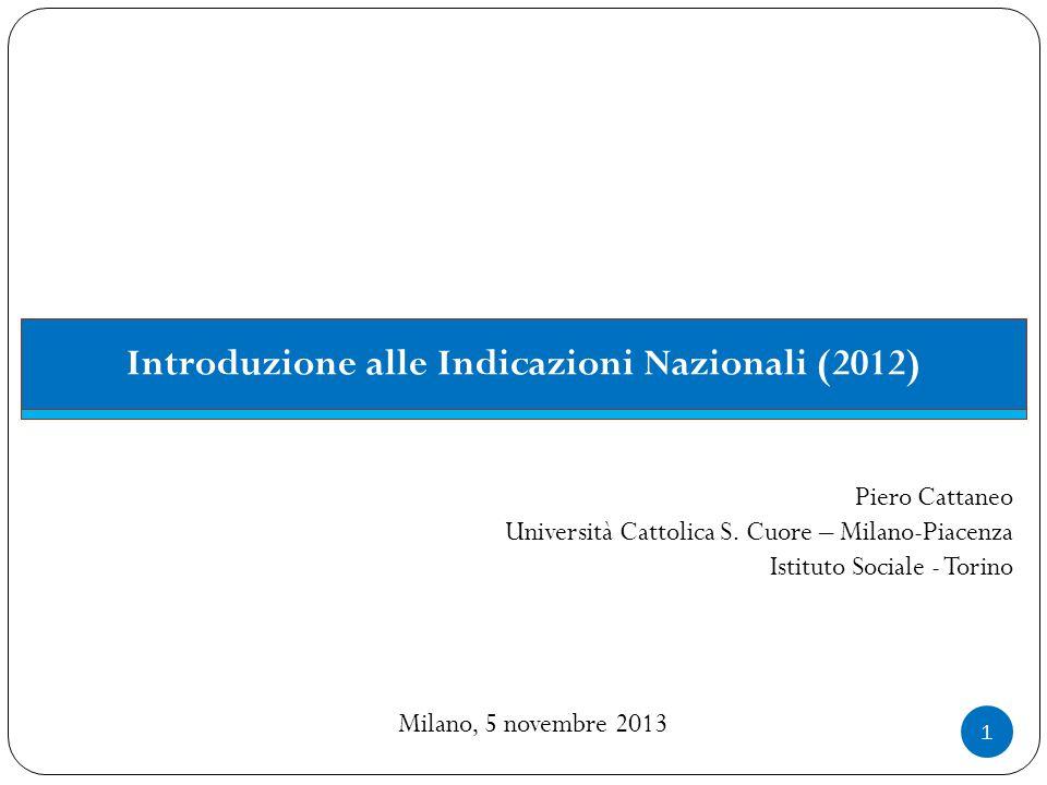 Introduzione alle Indicazioni Nazionali (2012)