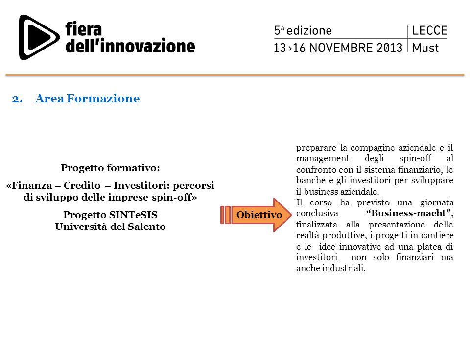 Progetto SINTeSIS Università del Salento