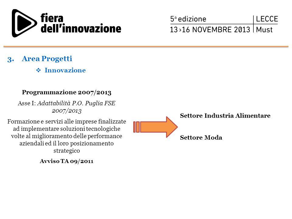 Asse I: Adattabilità P.O. Puglia FSE 2007/2013