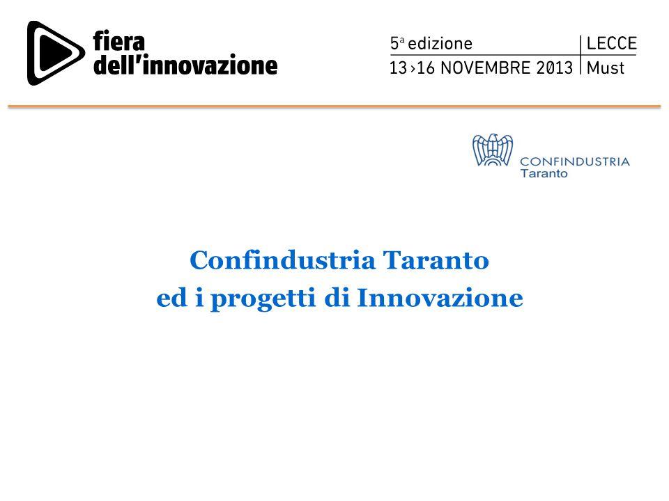 Confindustria Taranto ed i progetti di Innovazione