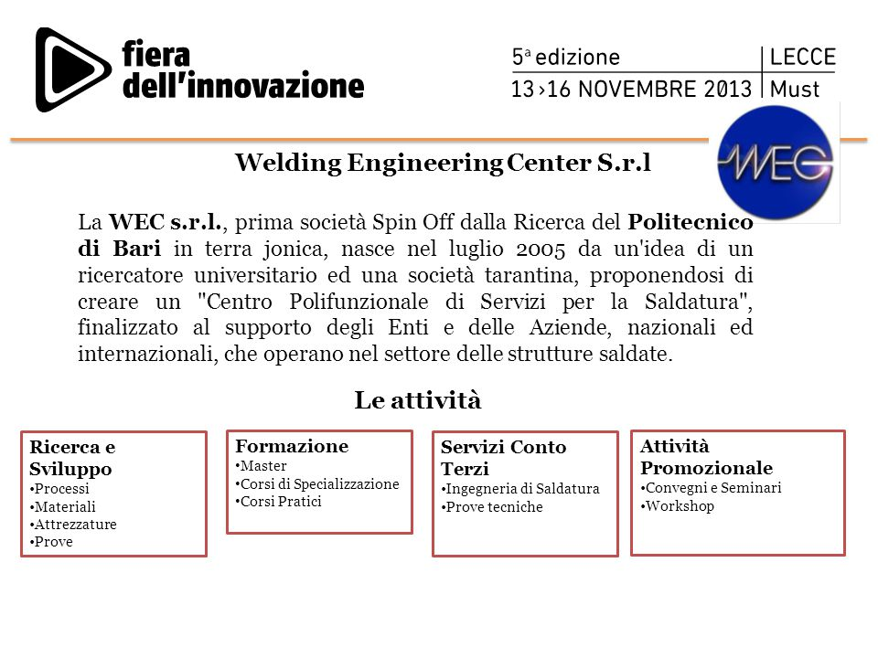 Welding Engineering Center S.r.l