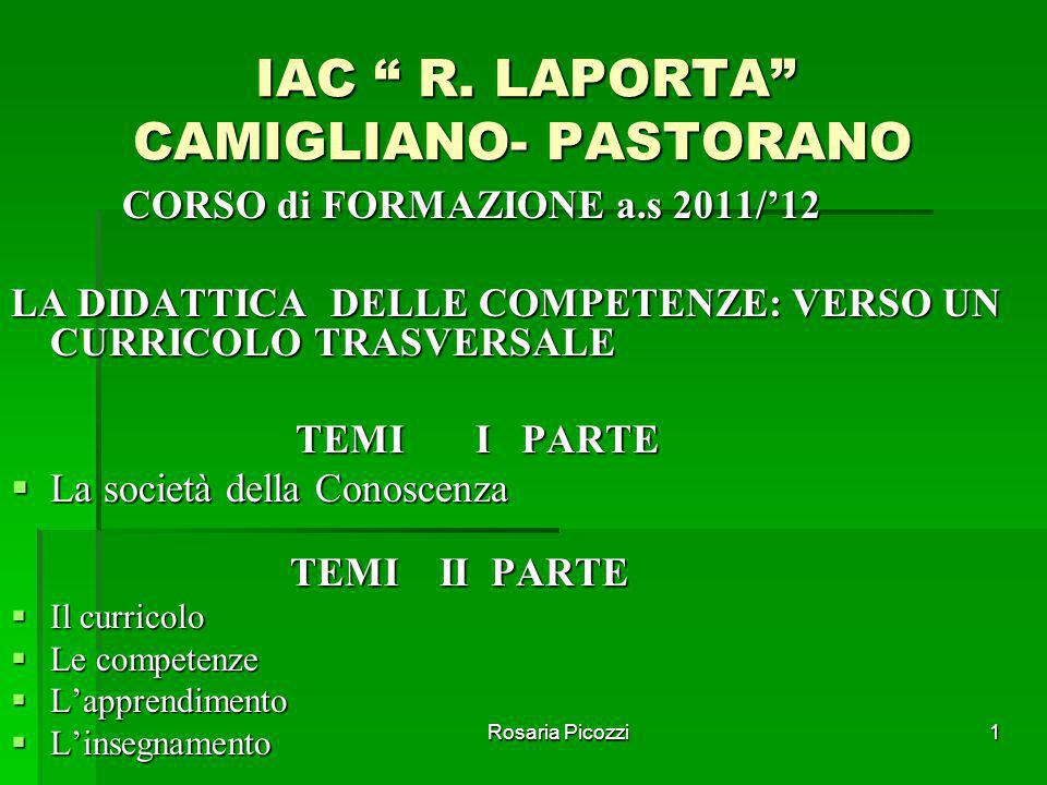 IAC R. LAPORTA CAMIGLIANO- PASTORANO