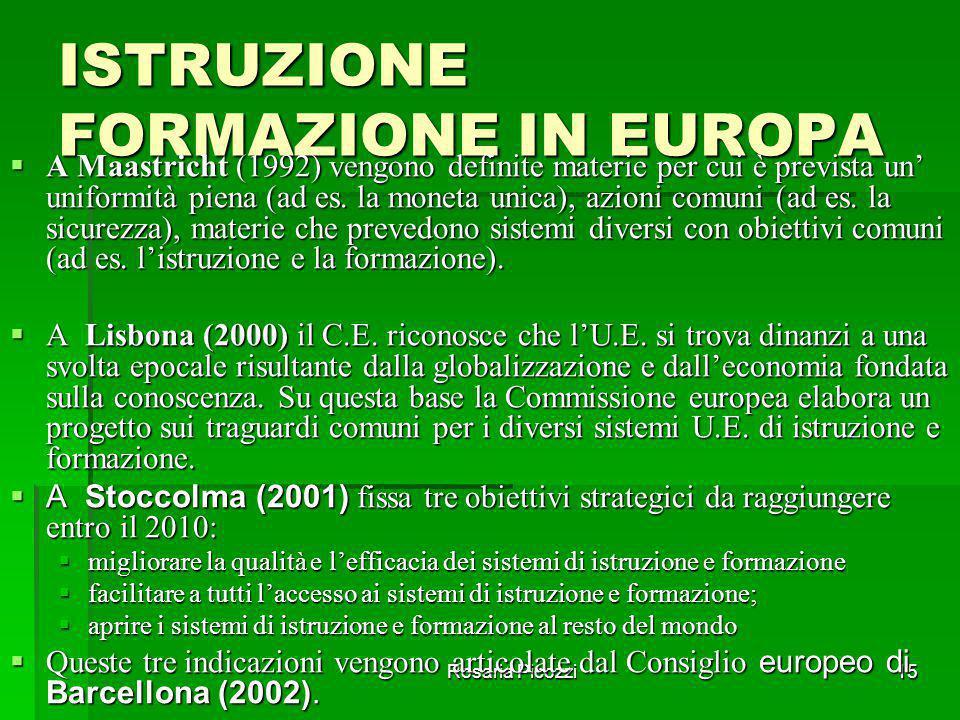 ISTRUZIONE FORMAZIONE IN EUROPA
