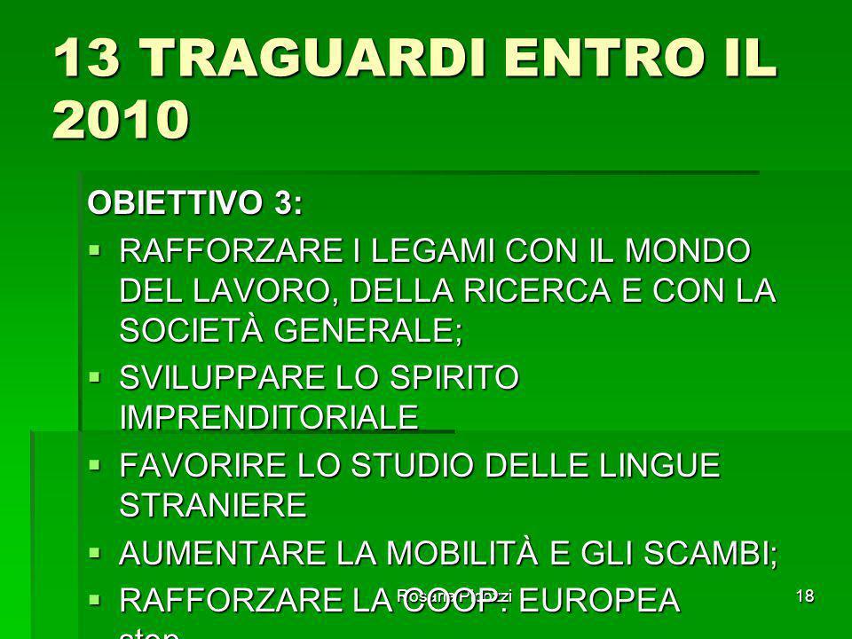 13 TRAGUARDI ENTRO IL 2010 OBIETTIVO 3: