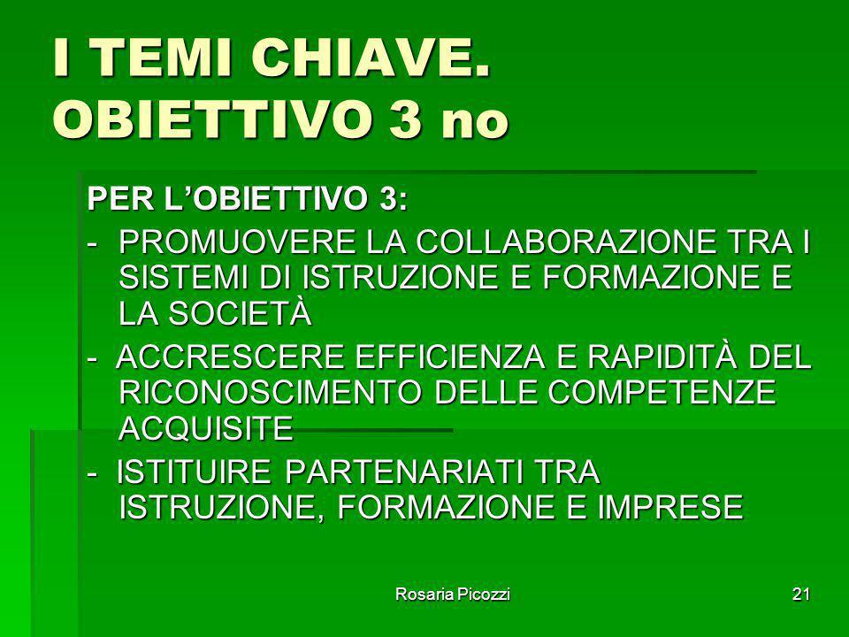 I TEMI CHIAVE. OBIETTIVO 3 no