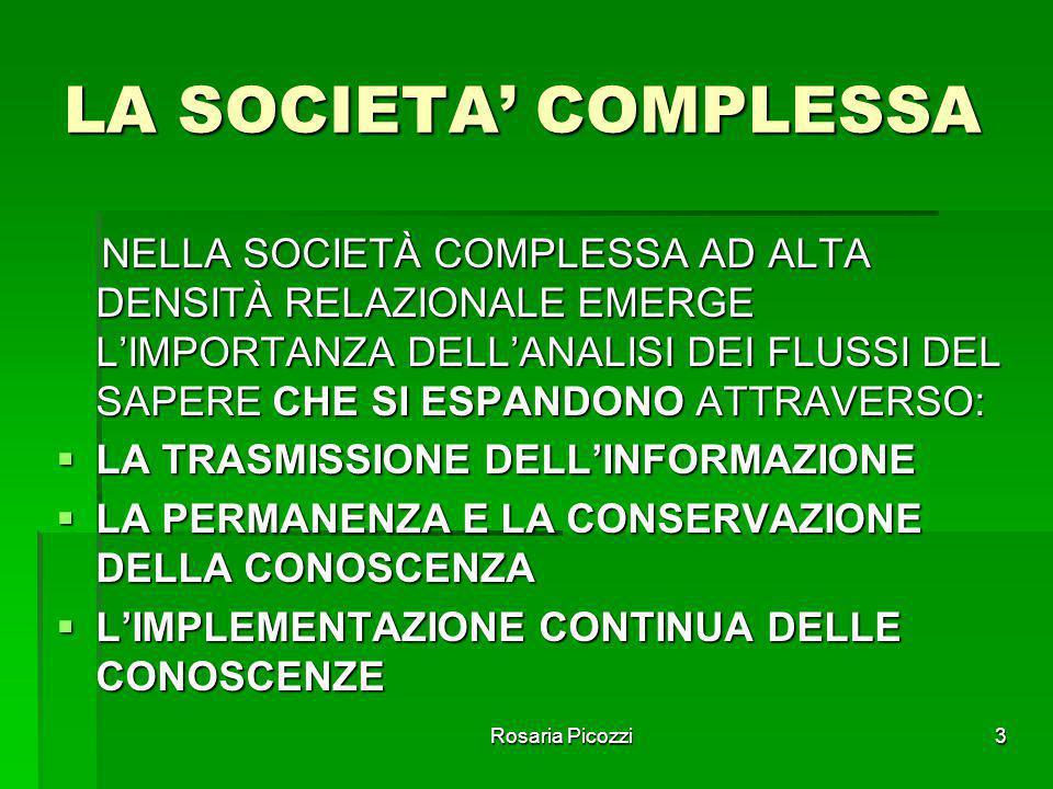 LA SOCIETA' COMPLESSA