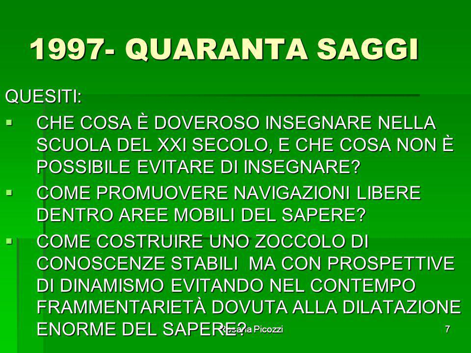 1997- QUARANTA SAGGI QUESITI:
