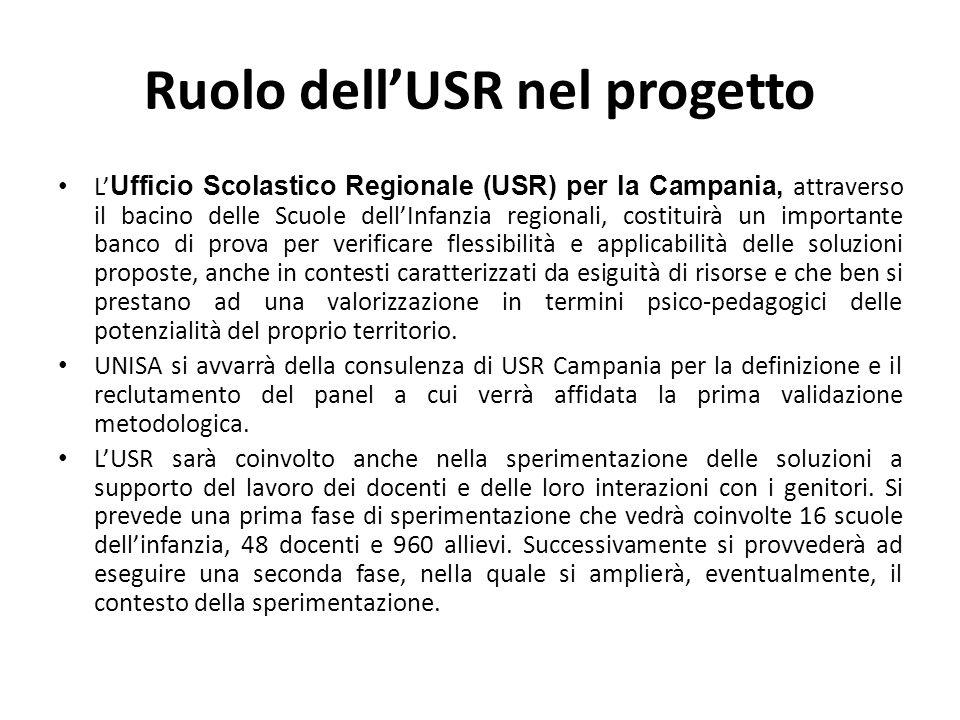 Ruolo dell'USR nel progetto