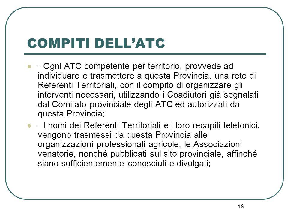 COMPITI DELL'ATC