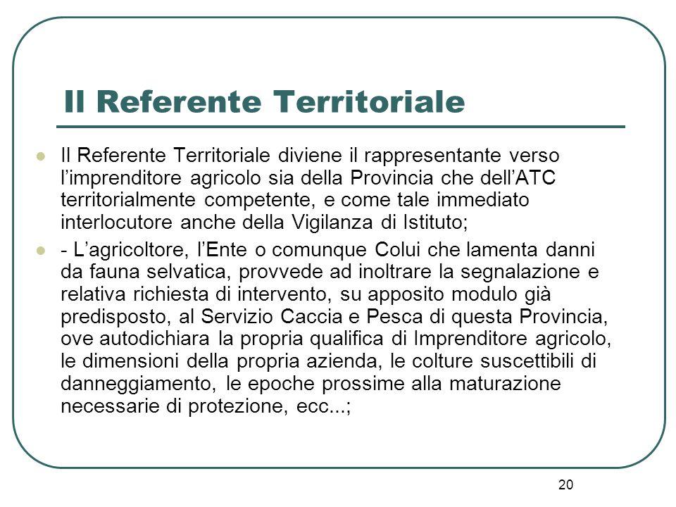 Il Referente Territoriale