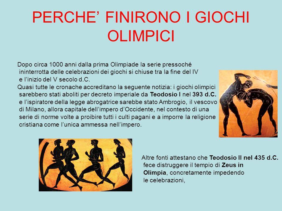 PERCHE' FINIRONO I GIOCHI OLIMPICI