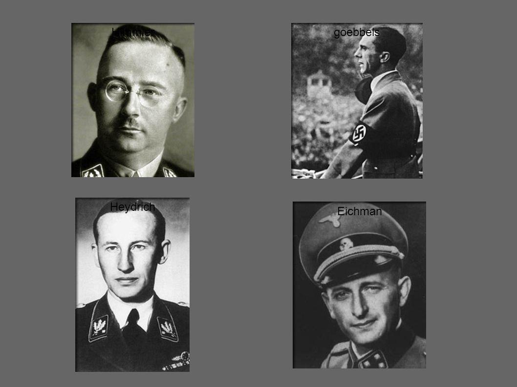 Himmler goebbels Heydrich Eichman
