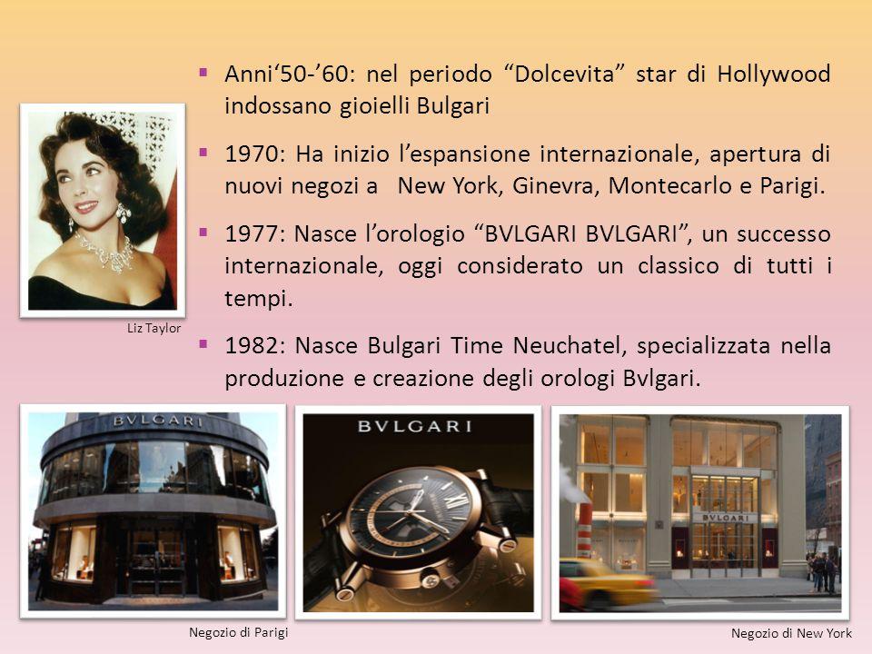 Anni'50-'60: nel periodo Dolcevita star di Hollywood indossano gioielli Bulgari