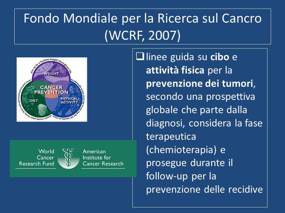 Fondo Mondiale per la Ricerca sul Cancro (WCRF, 2007)