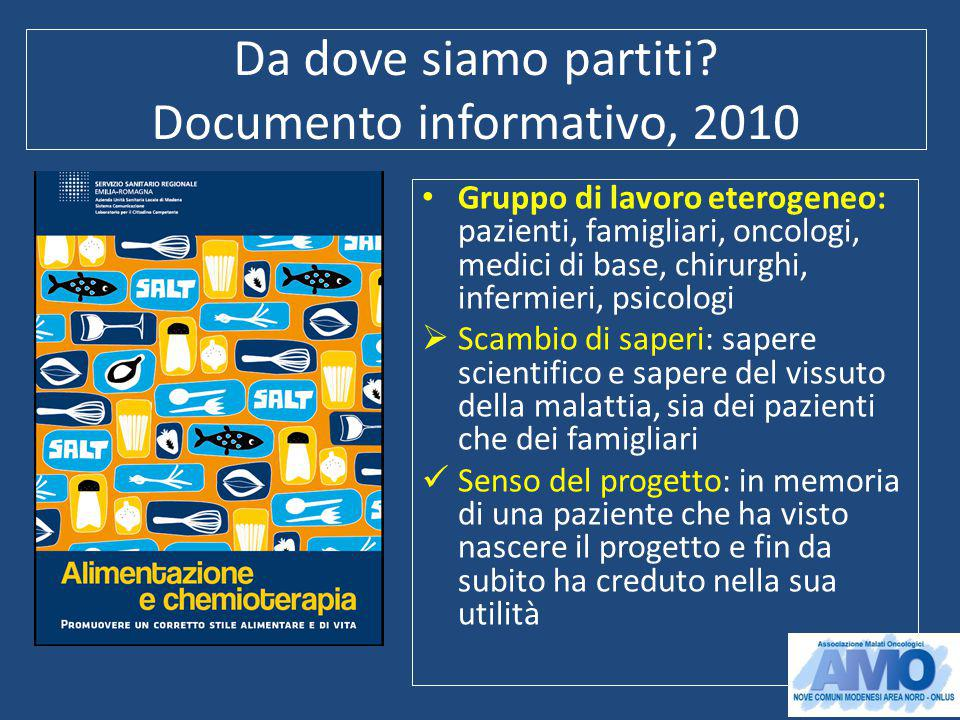 Da dove siamo partiti Documento informativo, 2010