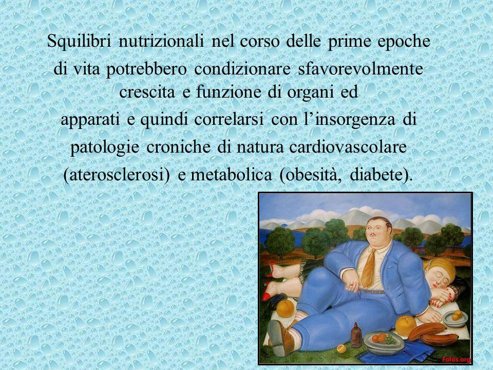 Squilibri nutrizionali nel corso delle prime epoche