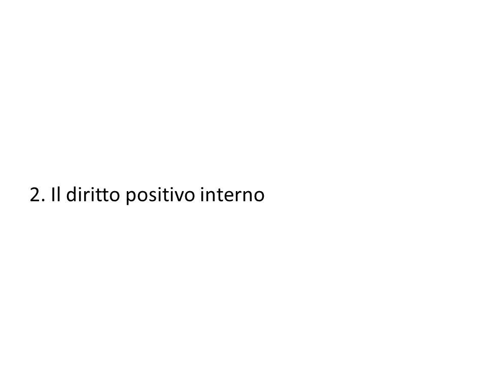 2. Il diritto positivo interno
