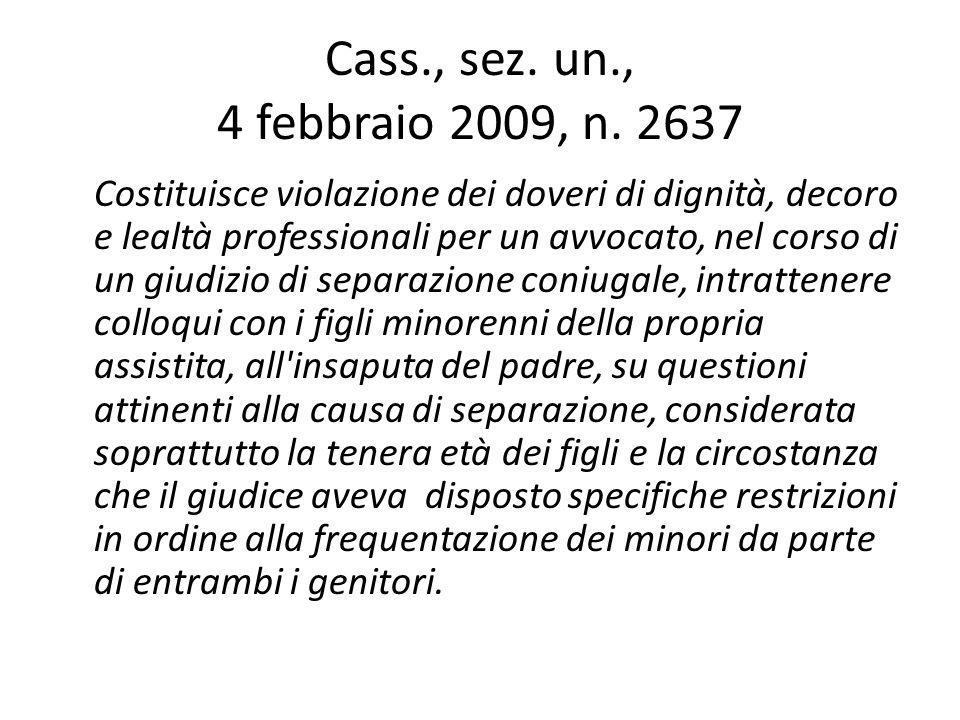 Cass., sez. un., 4 febbraio 2009, n. 2637