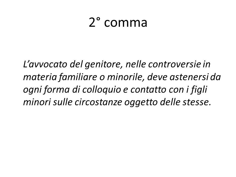 2° comma