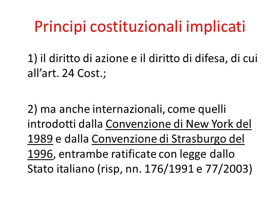 Principi costituzionali implicati