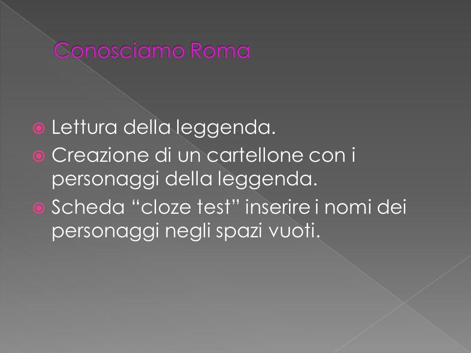 Conosciamo Roma Lettura della leggenda.