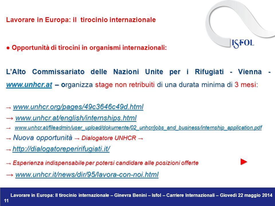 → www.unhcr.at/english/internships.html