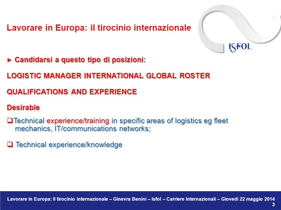 Lavorare in Europa: il tirocinio internazionale