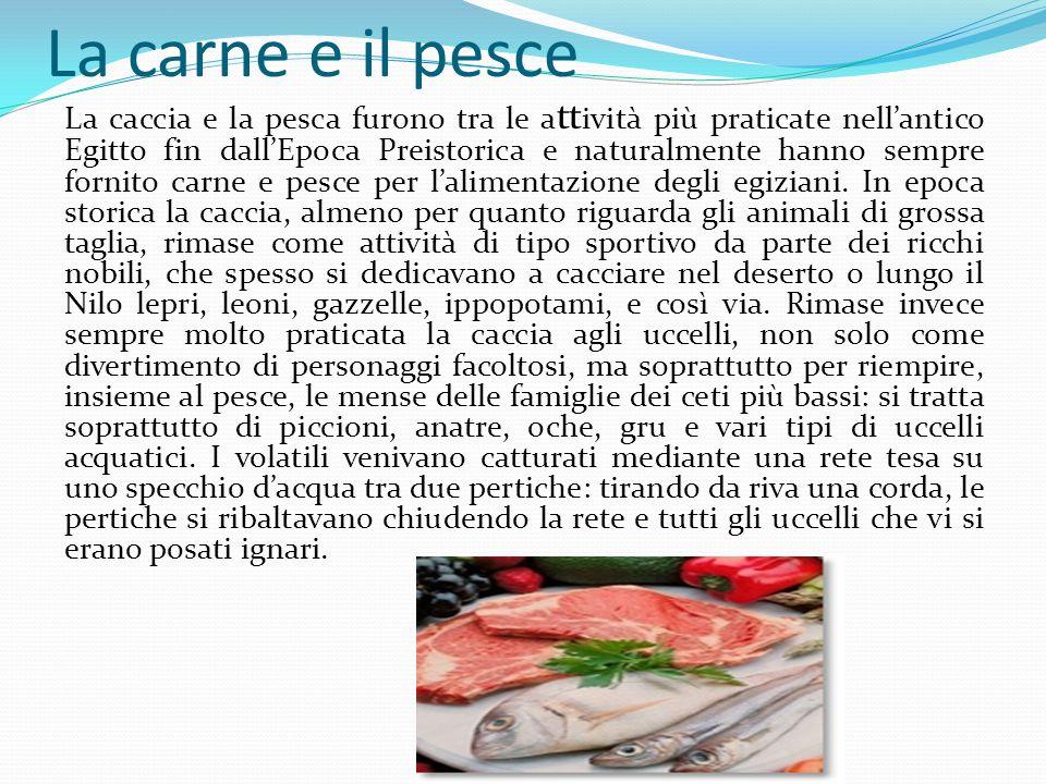 La carne e il pesce