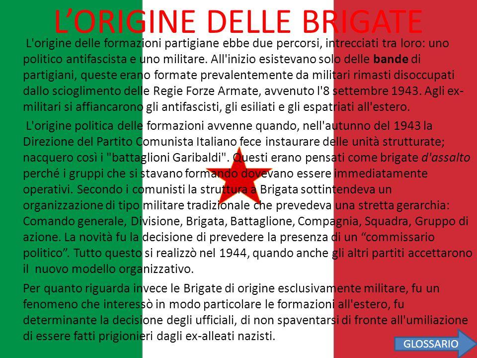 L'ORIGINE DELLE BRIGATE