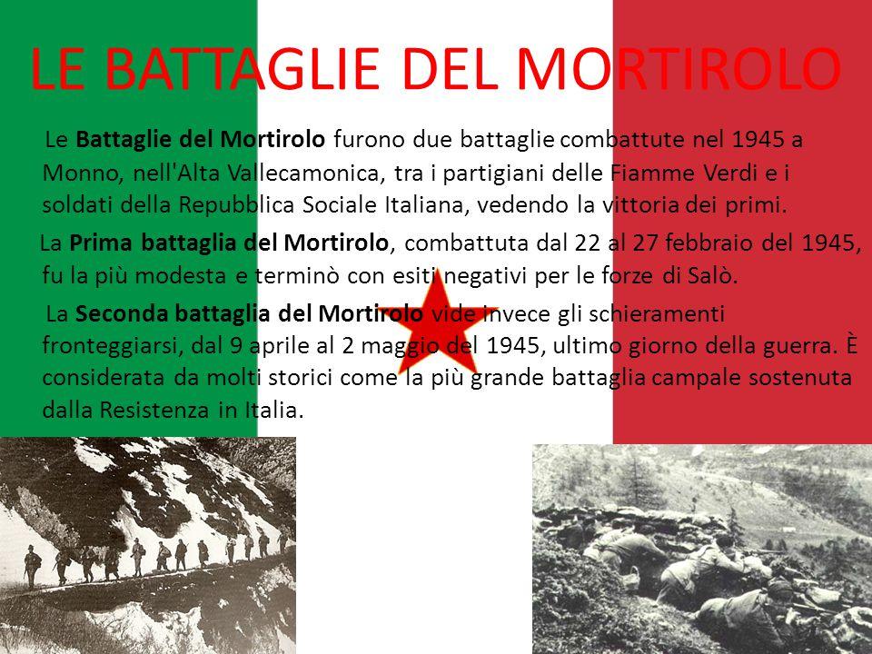 LE BATTAGLIE DEL MORTIROLO